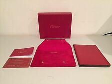 CARTIER PASSPORT WALLET GOATSKIN LEATHER RED AND GREY ORIGINAL BOX AND WARRANTY!