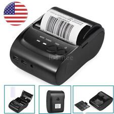 Bluetooth 58mm Usb Thermal Printer Receipt Bill 384dot/line Pos+Roll Paper N2Y3
