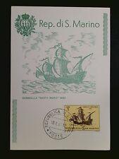 SAN MARINO MK 1963 SEGELSCHIFFE SAILSHIPS MAXIMUMKARTE MAXIMUM CARD MC CM c8516