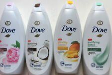 LOT OF 4-Dove Body Wash ( Assorted Scents) 22oz/ 650 ml ea
