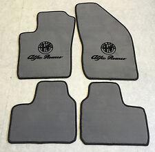 Autoteppiche Fußmatten für Alfa Romeo 90 grau schwarz Logo 4teilig Neu Velours