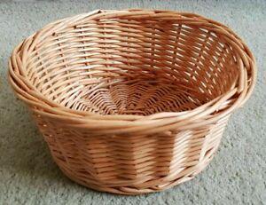 BRAND NEW WICKER Rattan Ivory Willow Round 20 x 9 cm Farmhouse Storage Basket