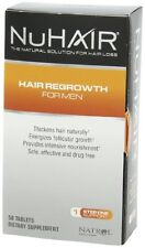 NuHair Hair Regrowth Tablets, for Men, 50-Count Box (3 Pack) + Makeup Sponge