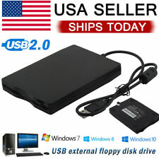 Usb 2.0 Data External Floppy Disk Drive 3.5� 1.44Mb For Laptop Pc Mac Win 7/8/10