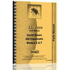 Parts Manual Fits Case 880F Tractor (SN# 521001 & Up)
