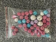 42 Pcs 15mm 4 Pcs 15mm Mixed Colour shamballa Beads Jewellery Making DIY