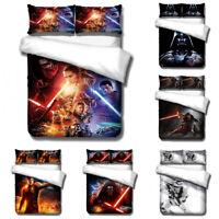 Star Wars 3D Bedding Set 3PCs Duvet Quilt Cover Pillowcase Twin Full Queen King
