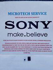SONY GTK-XB7  40BHX2240-MAF2G U3 NO OUTPUT 2 PIECE REPAIR KIT PLEASE READ ADVERT