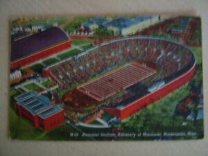Postcard - MEMORIAL STADIUM, UNIVERSITY OF MINNESOTA, MINNEAPOLIS. Used 1945.