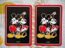 Two/pair vintage/kitsch Disney game/playing cards - Mickey and Minnie Mouse