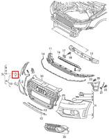 AUDI A1 8X Right Headlight Washer Cover Cap 8X0807754AGRU New Genuine 2013
