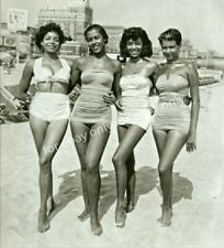 Vintage Old Photo Print 1940's Pretty African American Black Women Glam Girls
