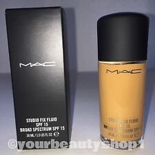 New Mac Foundation Studio Fix Fluid Foundation  SPF 15 NC45 100% Authentic