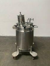 LEE 100 Liter Stainless Steel Jacketed Reactor w/ Agitator 100PSI