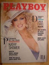 Original Playboy Magazine June 1986 Linda Evans Kelly LeBrock Kathy Shower PMOY