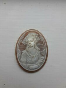 Carved shell cameo