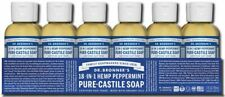 12 PACK - Dr. Bronner's 18-in-1 Hemp Peppermint Pure-Castile Soap 2.fl.oz SEALED