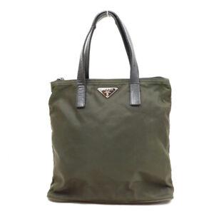 PRADA Handbag triangle logo nylon green