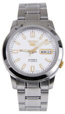 Seiko 5 SNKK07 Men's Stainless Steel White Dial Day Date Automatic Watch