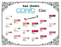 Copic Ciao Markers - Red Shades - Refillable With Copic Various Inks