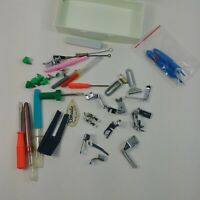 Singer Sewing Machine Case Accessories Parts Lot Screwdriver Feet Brushes +