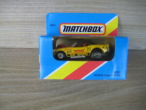 MATCHBOX SUPERFAST   MB1 DODGE CHALLENGER   TOYMAN Yellow   ABSOLUTELY MINT