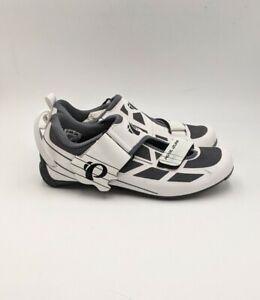 EUC Pearl Izumi Women's EU40 Tri Fly Select v6 Road Bike Shoes White Silver