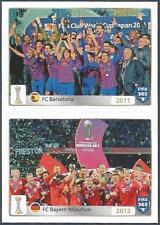 PANINI-2016 FIFA 365- #025-026-BARCELONA-2011-BAYERN MUNCHEN/MUNICH-2013 TEAMS