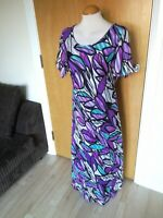 Ladies Dress Size 14 16 Purple Long Maxi Mother Of Bride Party Wedding Evening