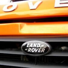 Land Rover Defender BLACK+SILVER front grille badge oval 90 110 logo upgrade