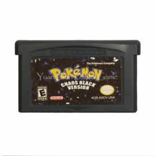 Nintendo GBA Video Game Console Card Cartridge Pokemon Chaos Black