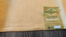 Vintage Belgian Linen Tablecloth Card Table square 52 X 52 golden butterscotch