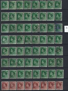 GB - 128 used Perfins - King Edward VIII Stamps