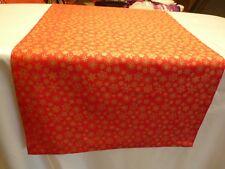 Tischläufer Tischdecke Tischset 40x133 cm rot Schneeflocken gold Weihnachten