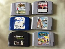 Lot of 6 Nintendo 64 Video Games Cruising World ,Madden,Jeopardy,Waianae Country