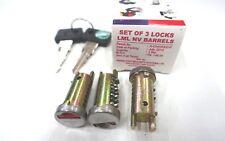 Vespa Schließzylinder Kit 3 Zylinder Schlösser, 2 Schlüssel Vespa PK,S,X2