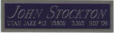 JOHN STOCKTON UTAH JAZZ NAMEPLATE FOR AUTOGRAPHED SIGNED BASKETBALL-JERSEY-PHOTO