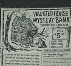 1967 Vintage Print Ad Haunted House Mystery Bank Shudder Save Halloween Form