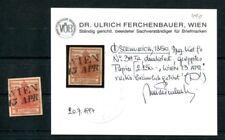 AUTRICHE 1850 3xia Geripptes papier estampillé constat FB VÖB (k7481