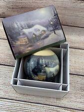 New ListingThomas Kinkade Painter of Light Collectible Ball Christmas Ornament