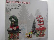 Dept 56 North Pole Merry Lane Cottages Box Set 4056664