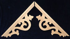 L&G Victorian Gingerbread Gothic Fretwork Pine Exterior Wood Gable End Trim Set