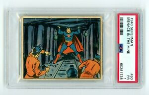 1940 Superman Gum Inc. #60 Menace at the Mine PSA 1 R145 RC *High Number* SP