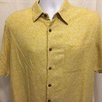 Island Republic Mens Hawaiian Shirt Large Button Front Pocket Camp Aloha
