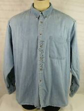 "Woolrich Denim Jean Button up Shirt Jacket 54"" Chest Barn Chore Work Vintage"