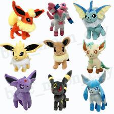 9X Pokemon Eevee Plush Sylveon Vaporeon Jolteon Leafeon Umbreon Espeon Soft Toy