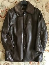 Marc New York, Men's Brown Leather Jacket - M