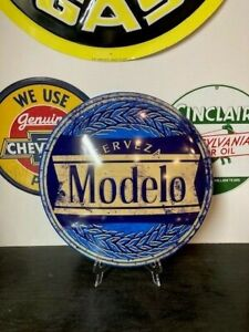 "MODELO 16"" ROUND DOME SIGN~MANCAVE BAR PUB BEER LIQUOR"