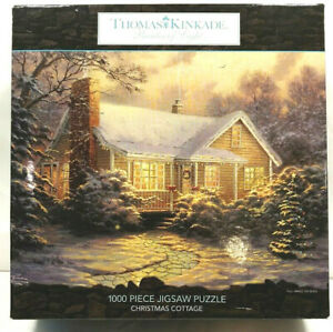 "Thomas Kinkade 1000 Piece Jigsaw Puzzle Christmas Cottage  27"" x 20"""