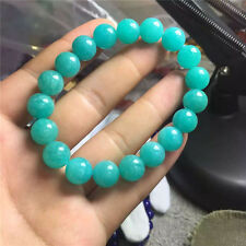 Natural Green Amazonite Mozambique Gems Round Beads Bracelet 9mm AAAA
